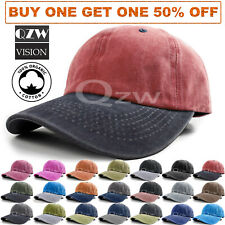 Unisex Polo Style Baseball Cap Ball Hat Adjustable Plain Solid Washed Cotton Men