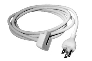 Apple AC Cord Macbook Pro Charger White Replacement Cable Extension AC Cord Only