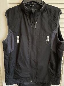 Sugoi Mens Black Cycling Magnet Removable Sleeves Vest Jacket Sz Large L