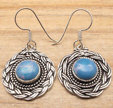 Free Shipping on Additional Items! Silver Plated Simulated Larimar ' Earrings