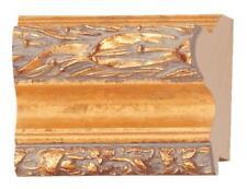 """Picture Frame Moulding (Wood) 18ft bundle - Ornate Gold Finish - 2.5"""" width - 3/"""