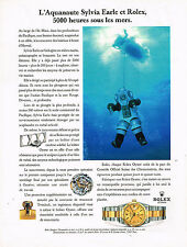 PUBLICITE ADVERTISING 074  1992   ROLEX montre DATEJUST CHRONO SYLVIA EARLE