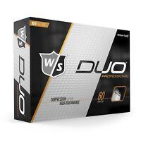 Wilson Staff - New DUO Professional Pro Spin Golf Ball - White - 1 Dozen 2019