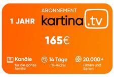Kartina TV 1 Jahr ABO ! Offizieller Shop von Kartina.TV ! 1 Год Або КАРТИНА ТВ!
