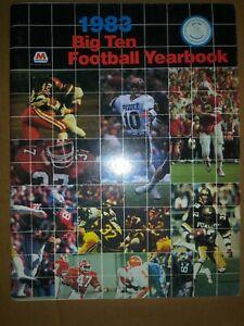 1983 BIG TEN FOOTBALL YEARBOOK Information Media/Press Guide MARATHON OIL
