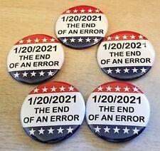 Lot of 10 ten 8645 pinback anti Trump 1 inch buttons