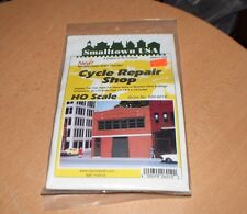 Smalltown USA HO Scale Model Kit 699-6019 Cycle Repair Shop NEW SEALED