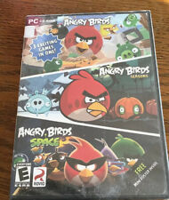 Angry birds 3 exciting games in one!  brand new PC CD-ROM FREE MINI POSTER