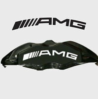AMG MERCEDES ARCHED BRAKE CALIPER VINYL DECAL x 8 ANY COLOUR FAST FREE UK P&P