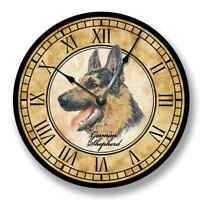 Animal Dog GERMAN SHEPARD WALL CLOCK Personalized Gift Home Living Room Decor