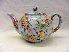 British birds on blue design 2 cup teapot by Heron Cross Pottery
