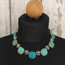 M&S Faux Turquiose Bib Style Multi Pendant Necklace