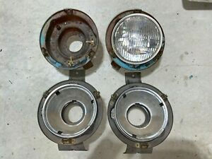 1960 Chevrolet Impala El Camino Bel Air Headlight Buckets Full Set of 4