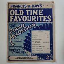 accordion music  FRANCIS & DAYS OLD TIME FAVOURITES arr rupert cowlin