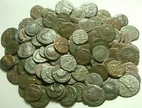 Lote Genuino Antiguo Romano Monedas Constantine/Valens/Constantius/Licinius