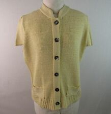 Evan Picone Mandarin Collar Short Sleeve Sweater Size XL