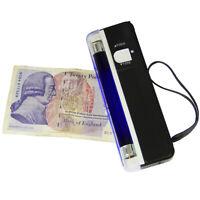 Détecteur de Faux Billets Portable UV Anti-Fraud Monnaies Documents Officiels