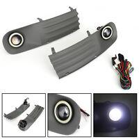Front Fog Lights Angel eyes Lamp Cover Grille Set For VW Transporter MK5 MKV T5,