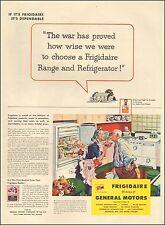 1944 WW2 era AD FRIGIDAIRE GM Kitchen appliances Food Fights for Freedom  031216