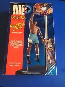 "1993 Kenner Shaq Attack Reverse Jam 6"" Action Figure w Accessories NOS 61208"