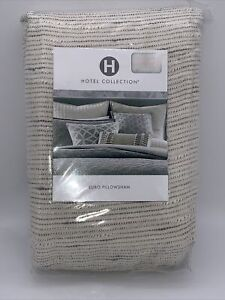 Hotel Collection Connections Cotton European Sham, Ivory charcoal MSRP $135.00