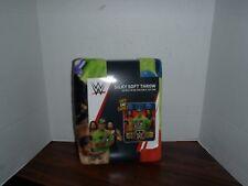 WWE WRESTLING STARS FLEECE THROW BLANKET John Cena and Gang NEW Tags 40 X 50