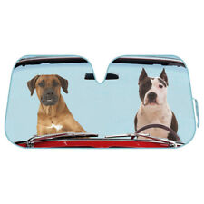 2 Dogs Auto Sun Shade for Car SUV Truck Foil Jumbo Folding Accordion Windshield
