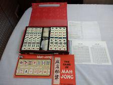 Vintage Bone & Bamboo Mahjong Game Tile Set In Box Mah Jong Complete Full Set
