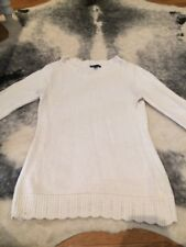 Gap Cream Coloured Cotton Knit Humper With Scalloped Edges Size Medium
