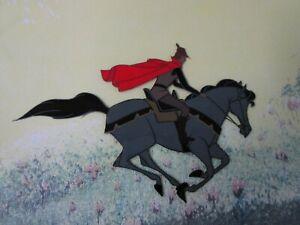 Sleeping Beauty Prince Phillip on Sampson production Cel  Disney 1959