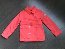 Moncler Girl Coral Raincoat Light Jacket Coat Size 4