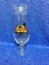 Hard Rock Cafe Cancun Hurricane Glass w/ Classic HRC Logo Palm Trees