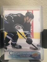 2016-17 MATHIEU PERREAULT UPPER DECK SERIES 2 UD CANVAS PARALLEL #C208 JETS
