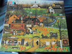 "Classic Charles Wysocki 1000 pc. puzzle-""BLACK BIRDS ROOST AT MILL CREEK"""