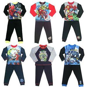 Boys Avengers Marvel Hulk Spiderman Superman Batman Pyjamas 4-10 Years