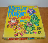 VINTAGE MONSTER MAKER GAME WHITMAN 1977 COMPLETE SILLY MONSTER PUZZLES