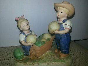 Homco Denim Days '' The Melon Patch'' figurine