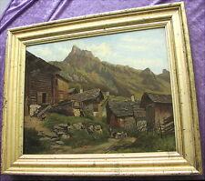 Schönes original altes Ölgemälde Alpenländisch Tirol 19. Jahrhundert