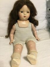 Vintage Composition 20' American Character Doll For Repair