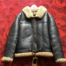 """Vintage Cirrus RAF Type Irvin Sheepskin and Leather Flying Jacket, 42"""" Chest"""