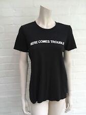 £510 NATASHA ZINKO Here Comes Trouble Black T-shirt T shirt top SIZE M MEDIUM