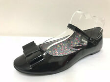 Ex Schuh Bambi Bow School/Casual Patent Black Ballerina Flat Pumps Shoes