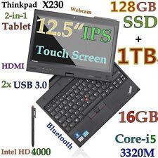 ThinkPad X230 TABLET i5-3320M (128GB-SSD + 1TB 16GB) 12.5 IPS MultiTouch