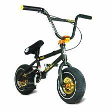 NEW Geuine Wildcat Mini BMX Rocker Bike Black/Gold Frame 1PC Crank Disc Brake