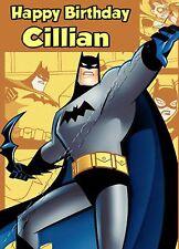 - BATMAN - IDEAL FOR SON NEPHEW GRANDSON PERSONALISED CHILDREN'S BIRTHDAY CARD