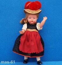 Plasticbaby Preh-Werke 15 cm muñeca Trachten Doll 50er años coleccionista L