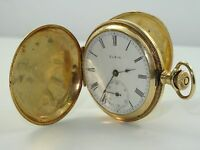ANTIQUE c.1903 ELGIN NATIONAL WATCH Co SOLID 14K GOLD HUNTER POCKET WATCH *WORKS