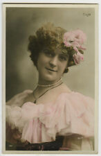 c 1907 French Theater Music Hall Melle COLSY Cabaret tinted photo postcard