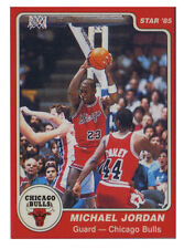 Michael Jordan 1985 Star Rookie Reprint Basketball Card