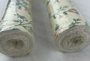 Vintage Wallpaper Floral Flowers SWSUN01 Sunworthy NW145 LOT Northwood Roll 3S1